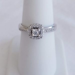1/4 Diamond Ring 14K White Gold Retail Price $999!
